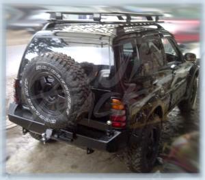escudo bumper belakang & roofrack